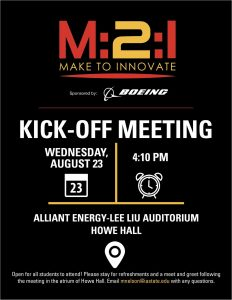M2I Fall 2017 Kick-off meeting